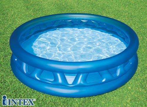 Детский надувной бассейн летающая тарелка INTEX Басейн круглый 188х46 х 36 см