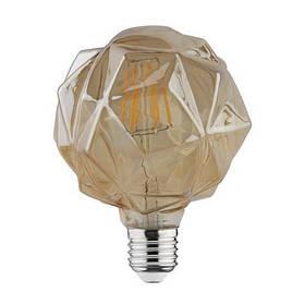 Светодиодная лампа Эдисона Filament VINTAGE CRYSTAL-6 6W D125 Е27 2200K (мат.золото) Код.58958