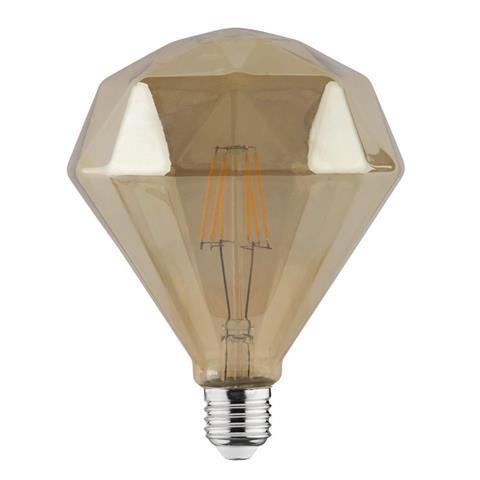 Светодиодная лампа Эдисона Filament VINTAGE DIAMOND-6 6W D120 Е27 2200K (мат.золото) Код.58957