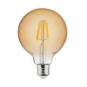 Светодиодная лампа Эдисона Filament VINTAGE GLOBE-6 6W D125 Е27 2200K (мат.золото) Код.55151, фото 2