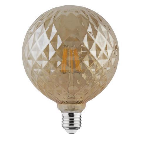 Світлодіодна лампа Едісона Filament VINTAGE TWIST-6 6W D125 Е27 2200K (мат.золото) Код.58960