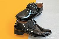 Школьные лакированные туфли для мальчика на липучке тм Том.м р.31,32,35,36,37,38