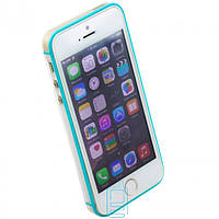 Чехол бампер для iPhone 5 Vser голубой