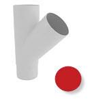 Тройник 45 град., водосточной системы Марлей (Marley) СONTINENTAL 90 мм красный