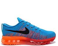 Мужские кроссовки Nike Air Max Flyknit 2015 Blue/Orange