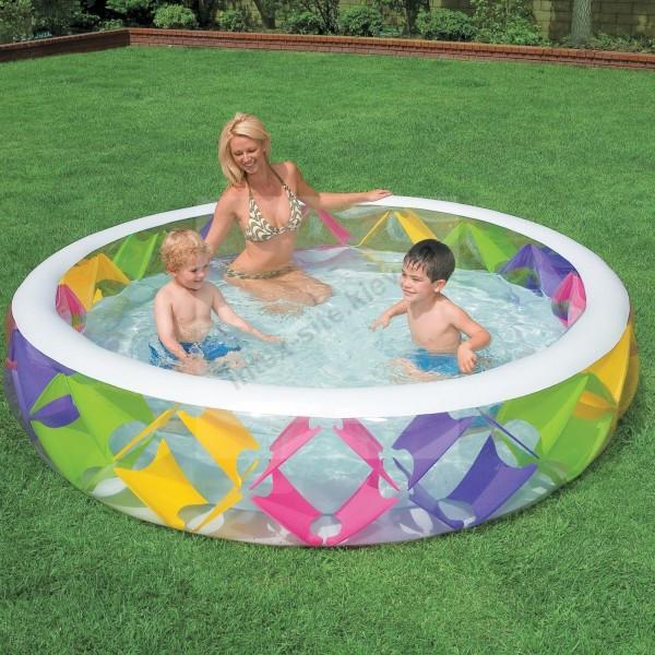 Детский надувной бассейн INTEX Басейн круглый 229 х 56 см