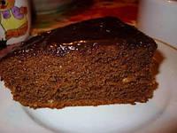 Мягкий торт с темным шоколадом
