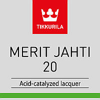 Лак по дереву для наружных и внутренних работ TIKKURILA MERIT JAHTI 20 ( Мерит Яхти 20 ) полуматовый , 3л.