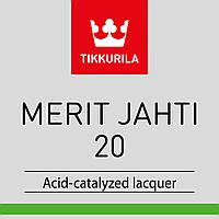 Лак по дереву для наружных и внутренних работ TIKKURILA MERIT JAHTI 20  Мерит Яхти 20 полуматовый 10 л.