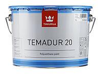 Краска полиуретановая двукомпонентная антикоррозионная эмаль Тиккурила Temadur 20  2,7л, фото 1