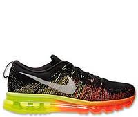 Мужские кроссовки Nike Air Max Flyknit Black/Green/Orange