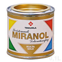 Декоративная краска золото  Miranol Tikkurila 0,1л, фото 1
