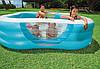 Семейный квадратный надувной бассейн INTEX 229х229х56 см Басейн фигурный, фото 5