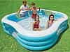 Семейный квадратный надувной бассейн INTEX 229х229х56 см Басейн фигурный, фото 6