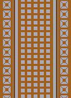 Безворсовый ковер-рогожка узор квадраты