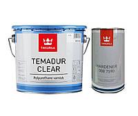 Лак полиуретановый TIKKURILA TEMADUR CLEAR износостойкий+отвердитель(комплект), 6 л.