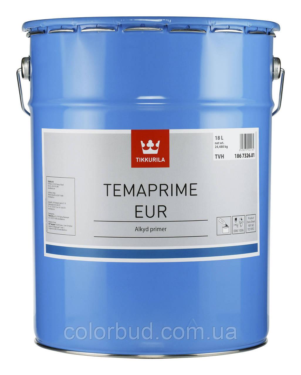 Противокоррозийная грунтовка для черных металлов полуматовая Temaprime EUR TVH 18л. - КолорБуд в Харькове