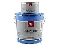 Эмаль полиуретановая TIKKURILA TEMADUR 50 TCL износостойкая +отвердитель(комплект), 2,7 л.