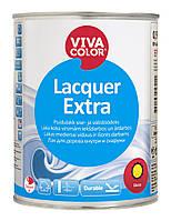 Лак полуматовый для внутренних и наружных деревянных поверхностей  Lacquer Extra  Vivacolor полуглянцевый, 0.9