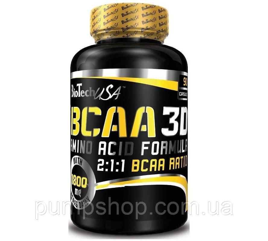 Аминокиcлоты BCAA 3D BioTech USA 90 капс.