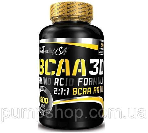 Аминокиcлоты BCAA 3D BioTech USA 90 капс., фото 2