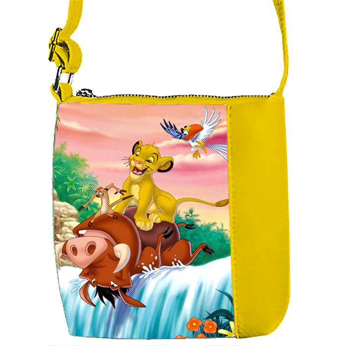 Желтая сумка для девочки с принтом Король Лев