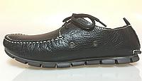 Мокасины мужские кожаные Clarks Casual Boat Black M