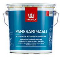 Алкидная противокоррозионная  краска Панссаримаали (Panssarimaali  Tikkurila ) база С 2,7л., фото 1