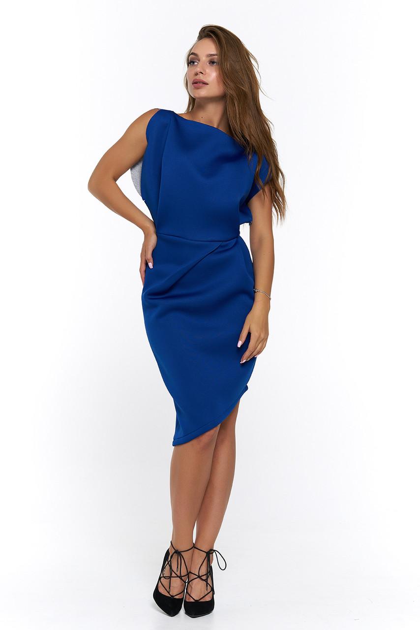 Нарядное платье из неопрена Альта электрик  продажа, цена в Харькове ... 6befab164fa