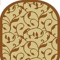 Безворсовый ковер-рогожка  овальный