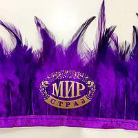 Тесьма перьевая (Петух)  Цвет Purple  Цена за 0.5м