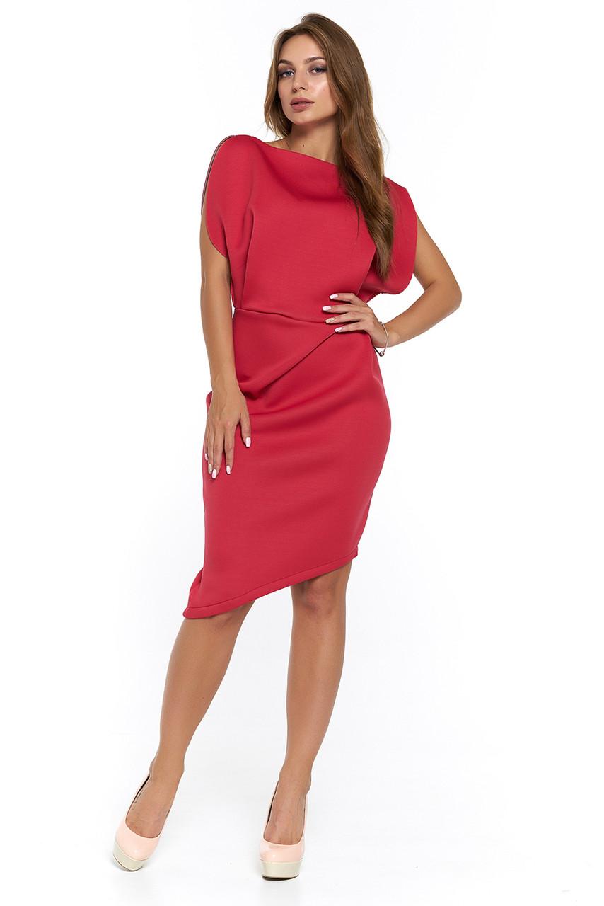 Нарядное платье из неопрена Альта коралл  продажа, цена в Харькове ... 94ea849d555