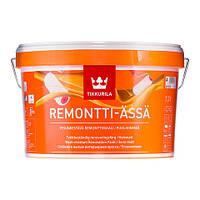 Моющаяся краска без запаха полуматовая Remontti Assa  Tikkurila база А, 0,9л