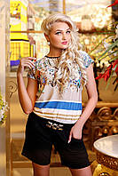 Женский летний комбинезон с шортами, фото 1