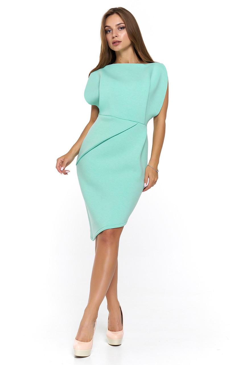 4589ce7eb64 Мятное облегающее вечернее платье Альта - DS Moda - женская одежда оптом от  производителя в Харькове