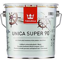 Лак износостойкий  Unica Super Tikkurila глянцевый 2,7 л, фото 1
