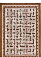 Безворсовый ковер-рогожка узор лабиринт