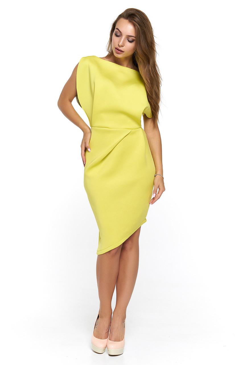 Нарядное платье из неопрена Альта горчица  продажа, цена в Харькове ... 782dab5e520