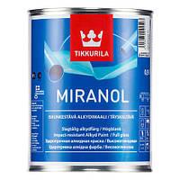 Эмаль  Miranol Tikkurila ударостойкая под колеровку в разные цвета, база А  0,9 л