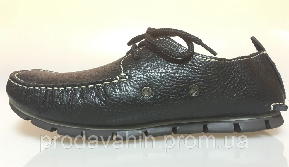ae634505477 Мужские мокасины Clarks Casual Boat Black M кожаные. мужская обувь ...