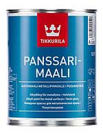 Алкидная противокоррозионная  краска Панссаримаали (Panssarimaali  Tikkurila ) база А 0,9л.