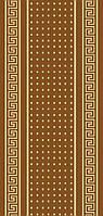 Безворсовый ковер-рогожка коричневый
