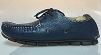 Мужские мокасины  Clarks Casual Boat Navy M кожаные. мужская обувь, интернет магазин недорогой обуви