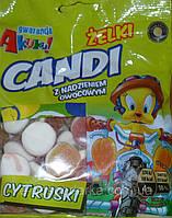 Желейные конфеты Zelki CANDI cytruski (с начинкой цитрусовых) Польша 200г