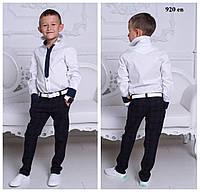 Рубашка школьная на мальчика с галстуком 920 ев