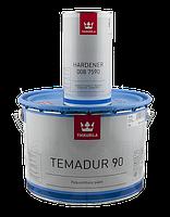 Эмаль полиуретановая высокоглянцевая TIKKURILA TEMADUR 90 TCL износостойкая+отвердитель(комплект)  9 л., фото 1