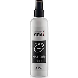 Nail Prep 3-в-1 GGA Professional Обезжириватель, Снятие липкости и Антисептик 250мл