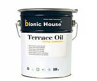Террасное масло для дерева Terras Oil Bionic House с добавлением пчелиного воска грязе и водотталкивающее 10 л