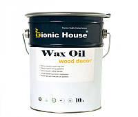 Масло Воск Bionic House для дерева 100% натуральный продукт,защита от влаги и загрязнений 10л