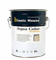 Фасадная лазурь антисептик лессирующая Бионик Хаус Аква Колор с УФ фильтром на водной основе 10л